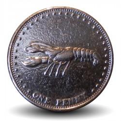 TRISTAN DA CUNHA - PIECE de 1 penny Elizabeth II - Langouste - 2008