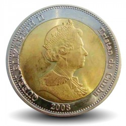 TRISTAN DA CUNHA - PIECE de 25 Pence - Dauphins - 2008