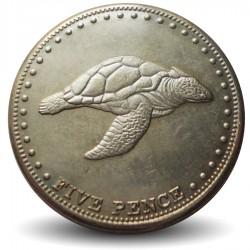 TRISTAN DA CUNHA - PIECE de 5 Pence - Tortue - 2008 Km#30
