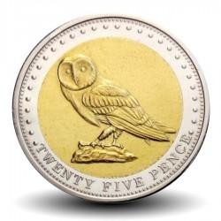 ILE GOUGH / TRISTAN DA CUNHA - PIECE de 25 Pence - Chouette - 2009 Km#7