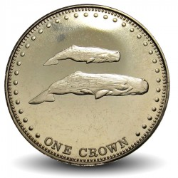 TRISTAN DA CUNHA - PIECE de 1 Couronne - Baleines - 2008 Km#34