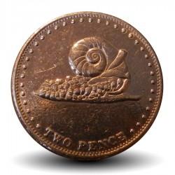 TRISTAN DA CUNHA - PIECE de 2 Pence Elizabeth II - Une janthine  - 2008
