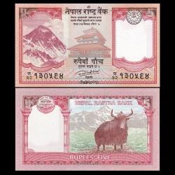 NEPAL - Billet de 5 Roupies - 2017