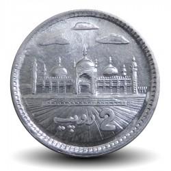 PAKISTAN - PIECE de 2 Roupies - Mosquée Badshahi - 2018 Km#68