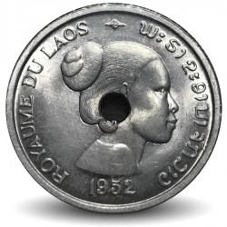 FREE SHIP 1952 LAOS 10 CENTS AU Exotic Scarce Collectible Coin LAOS BIN