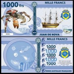 JUAN DE NOVA - Billet de 1000 Francs - Série CRABES: Crabe de cocotier - 2018