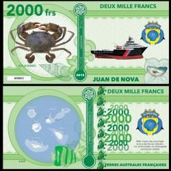 JUAN DE NOVA - Billet de 2000 Francs - Série CRABES: Scylla serrata - 2018