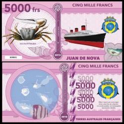 JUAN DE NOVA - Billet de 5000 Francs - Série CRABES: Crabe violoniste - 2018