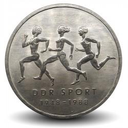 ALLEMAGNE DE L'EST / DDR - PIECE de 10 Marks - Sports de la RDA - 1988