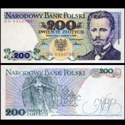 POLOGNE - Billet de 200 Złotych - Jarosław Dąbrowski - 01.06.1986