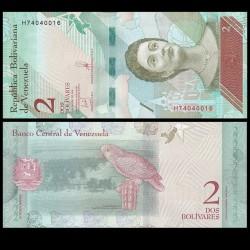 VENEZUELA - Billet de 2 Bolivares - Perroquet - 15.01.2018