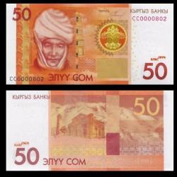 KIRGHIZISTAN - Billet de 50 Som - Kurmanjan Datka - 2009 P25a