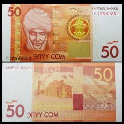 KIRGHIZISTAN - Billet de 50 Som - Kurmanjan Datka - 2016