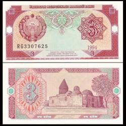 OUZBEKISTAN - Billet de 3 Som - 1994