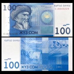 KIRGHIZISTAN - Billet de 100 Som - Toktogul Satylganov - 2016 P26b