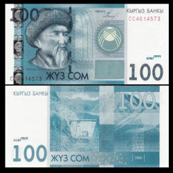 KIRGHIZISTAN - Billet de 100 Som - Toktogul Satylganov - 2009 P26a