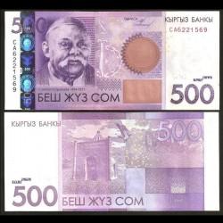 KIRGHIZISTAN - Billet de 500 Som - Sayakbai Karalayev - 2010
