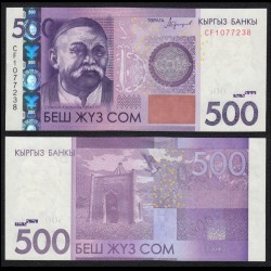 KIRGHIZISTAN - Billet de 500 Som - Sayakbai Karalayev - 2016