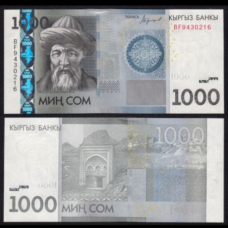 KIRGHIZISTAN - Billet de 1000 Som - Zhusup Balasagyn - 2016 P29b