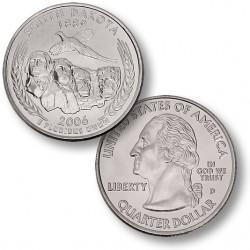 ETATS-UNIS / USA - PIECE de 25 Cents (Quarter States) - Sud Dakota - 2006