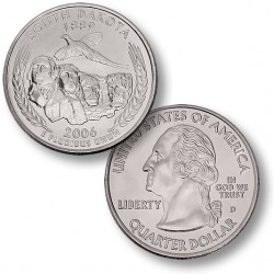 ETATS-UNIS / USA - PIECE de 25 Cents (Quarter States) - Sud Dakota - 2006