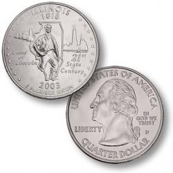ETATS-UNIS / USA - PIECE de 25 Cents (Quarter States) - Illinois - 2003