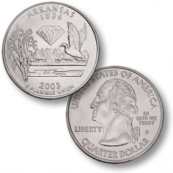 ETATS-UNIS / USA - PIECE de 25 Cents (Quarter States) - Arkansas - 2003