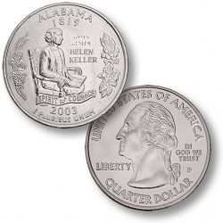 ETATS UNIS / USA - PIECE de 25 Cents (Quarter States) - Alabama - 2003 - P