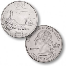 ETATS-UNIS / USA - PIECE de 25 Cents (Quarter States) - Maine - 2003