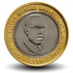 JAMAIQUE - PIECE de 20 Dollars - Marcus Garvey - Bimétal - 2001