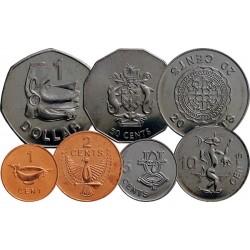 SALOMON - SET / LOT de 7 PIECES - 1 2 5 10 20 50 CENTS 1 DOLLAR - 2005 2008 Km#24 25 26 27 28 29 72
