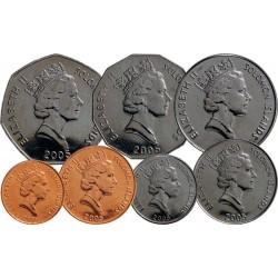 SALOMON - SET / LOT de 7 PIECES - 1 2 5 10 20 50 CENTS 1 DOLLAR - 2005 2008