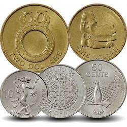 SALOMON - SET / LOT de 5 PIECES - 10 20 50 Cents 1 2 Dollars - 2012 Km#235 236 237 238 239
