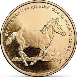 POLOGNE - PIECE de 2 ZLOTE - Le monde des animaux: cheval polonais - Le Konik - 2014 Y#886