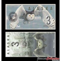 ALASKA - Billet de 3 Northern DOLLAR - 2016