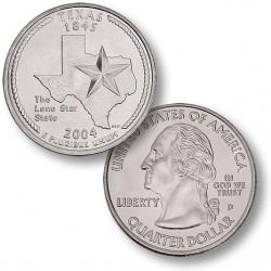 ETATS-UNIS / USA - PIECE de 25 Cents (Quarter States) - Texas - 2004
