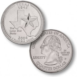ETATS-UNIS / USA - PIECE de 25 Cents (Quarter States) - Texas - 2004