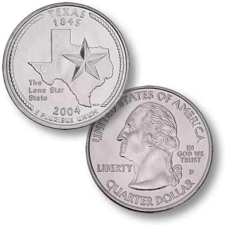 ETATS-UNIS / USA - PIECE de 25 Cents (Quarter States) - Texas