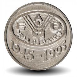 ROUMANIE - PIECE de 10 Lei - 50 ème Anniversaire du FAO - 1995