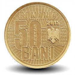 ROUMANIE - PIECE de 50 Bani - Redénomination du Leu - 2015