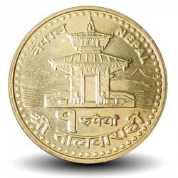 NEPAL - PIECE de 1 Roupie - Temple Sri Talbarahi - 2005 - २०६२ Km#1181