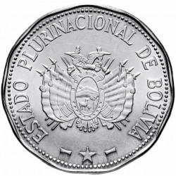 BOLIVIE - PIECE de 2 Bolivianos - Revendications territoriales - 2017