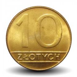 POLOGNE - PIECE de 10 zlotych - 1990