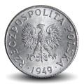POLOGNE - PIECE de 1 Grosz - 1949