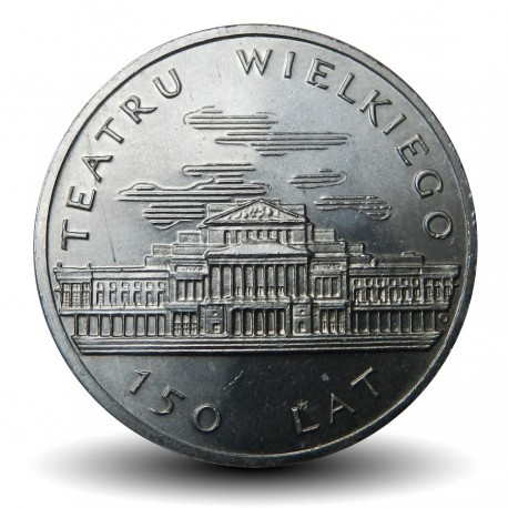 POLOGNE - PIECE de 50 Zlotych - 150 ans du Theatre Wielki - 1983