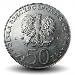 POLOGNE - PIECE de 50 Zlotych - Les rois de Pologne: Casimir Ier le Restaurateur - 1980