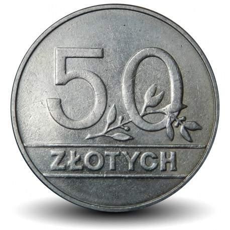 POLOGNE - PIECE de 50 zlotych - 1990
