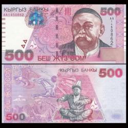 KIRGHIZISTAN - Billet de 500 Som - Sayakbai Karalayev - 2000