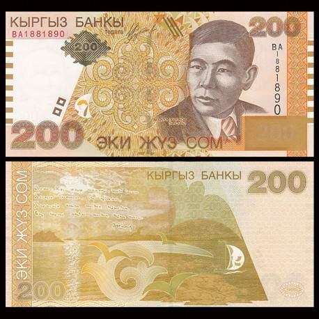 KIRGHIZISTAN - Billet de 200 Som - Alykul Osmonov - 2004