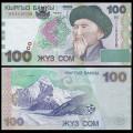 KIRGHIZISTAN - Billet de 100 Som - Toktogul Satylganov - 2002